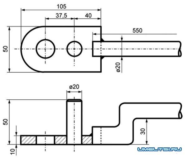 приспособление для гибки труб и проволоки чертеж