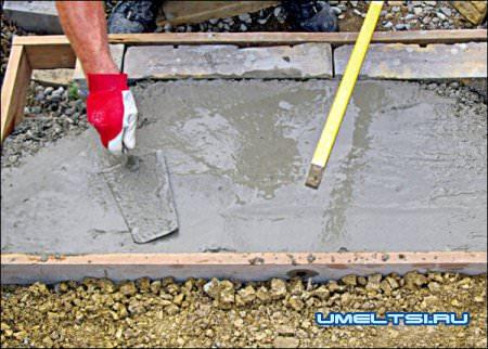 Строительство бетонной лестницы в саду