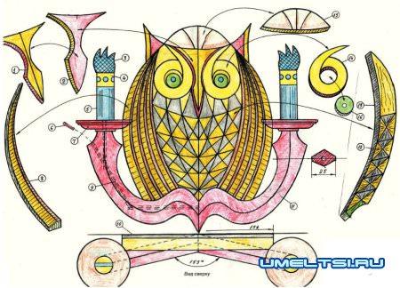 светильник сова схема