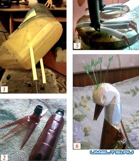 ход работы по изготовлению павлина