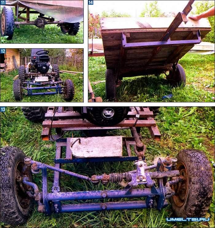 самодельный колесный трактор -агрегаты
