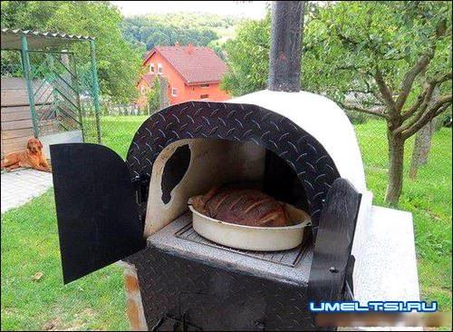 Снаружи печь красим