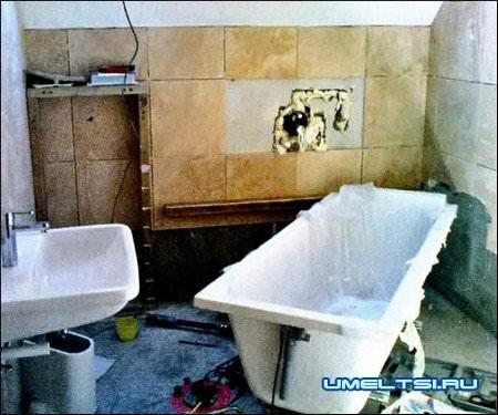Замена ванны своими руками