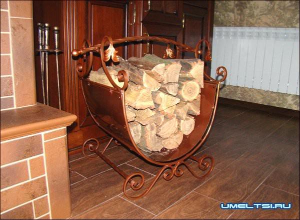Как сделать дровницу для камина