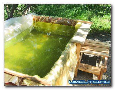 Самодельный каркасный бассейн для дачи