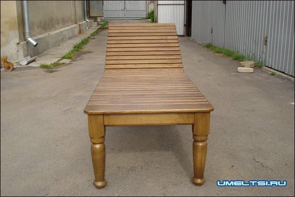 Шезлонг, стол и лавка для бани