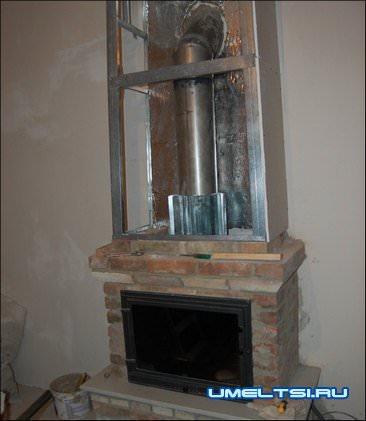Камин для отопления дома