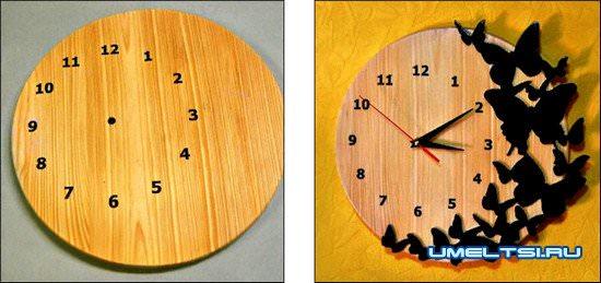 Декорирование часов своими руками