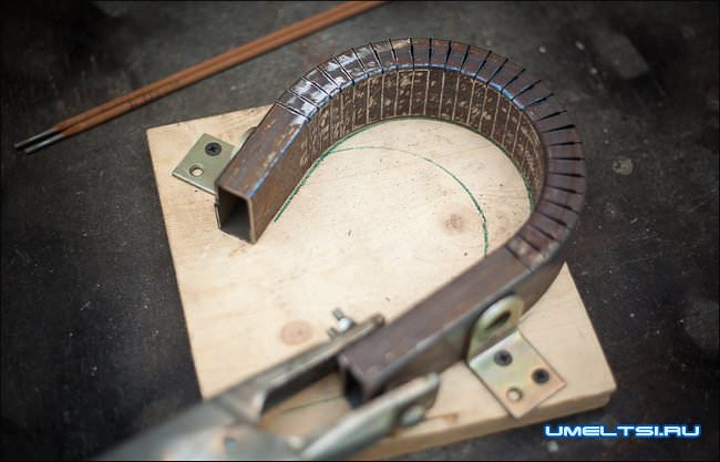 Металлический мостик своими руками ход работ