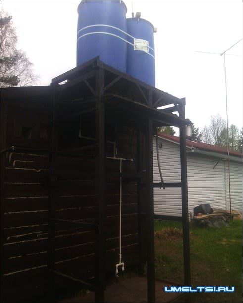 Установка водонапорной башни на даче