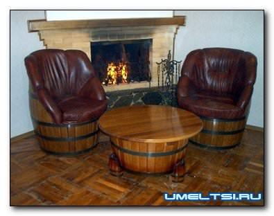 Самоделки из деревянной из бочки