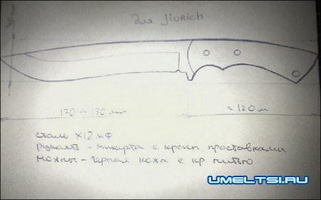 эскиз ножа своими руками