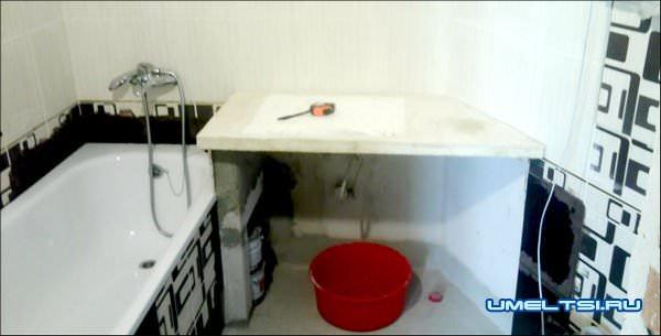 Столешница для ванны своими руками