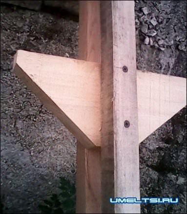 садовая деревянная лестница