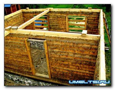 деревянный дом без косяков