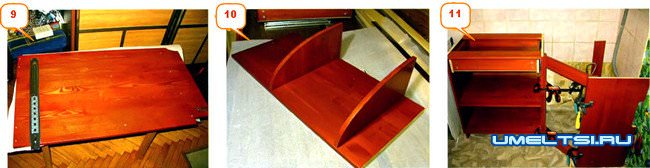 Угловой вариант мебели для кухни