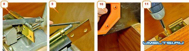 Как сменить дверные петли