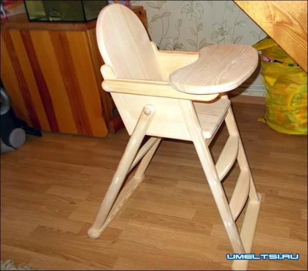 Детский стульчик для кормления своими руками