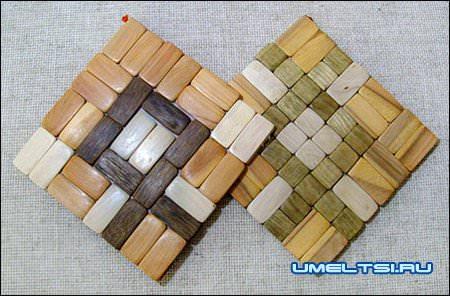 Подставки для кружек из древесины
