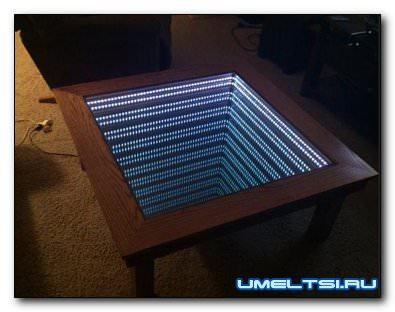 Журнальный столик с LED подсветкой своими руками