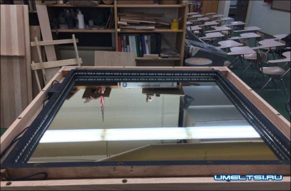 Журнальный столик с LED подсветкой мастер класс