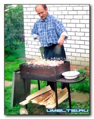 Мангал своими руками из металла чертежи, фото