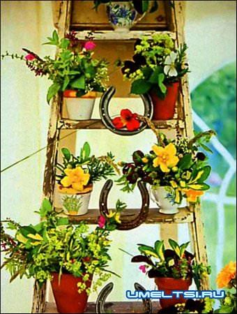 лесенка для цветов своими руками