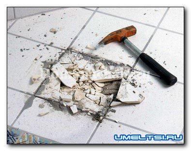Как заменить поврежденную плитку своими руками