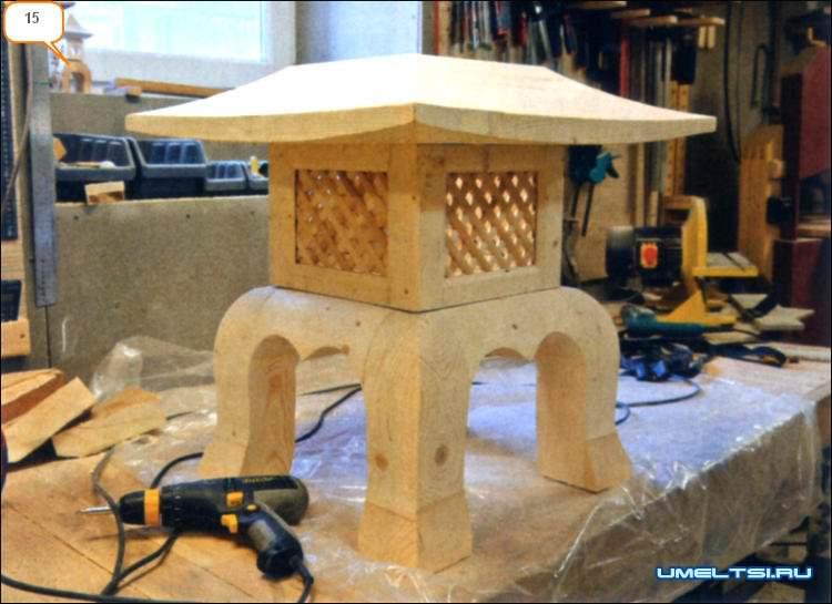 Японский  каменный фонарь. Изготовление, мастер - класс