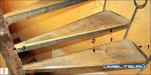 Межэтажная винтовая лестница