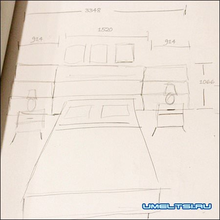 Спинка кровати своими руками чертеж