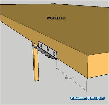 Откидной стол в гараж