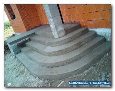 Строительства бетонного крыльца