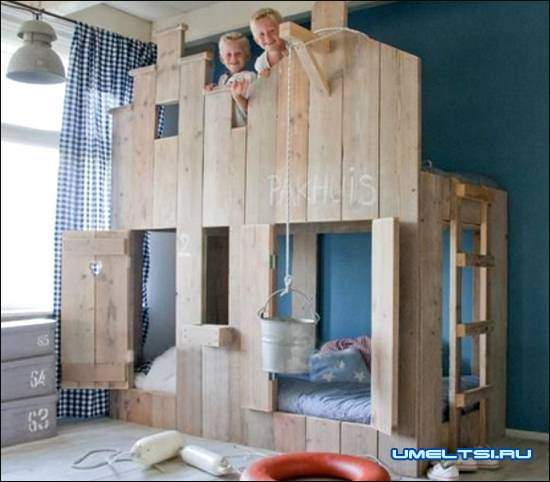 мебель в детскую комнату из поддонов своими руками
