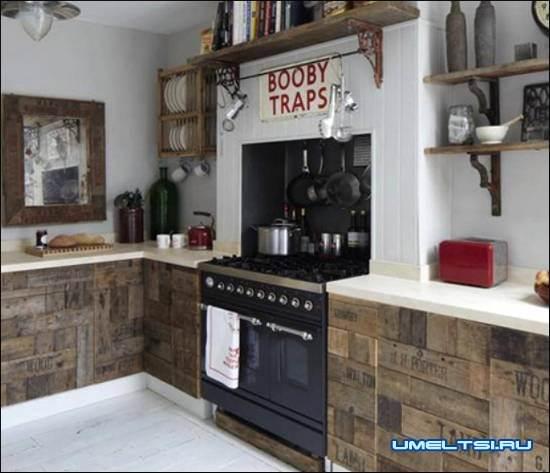 кухня из поддонов своими руками