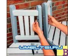 Крепим сиденье к скамье