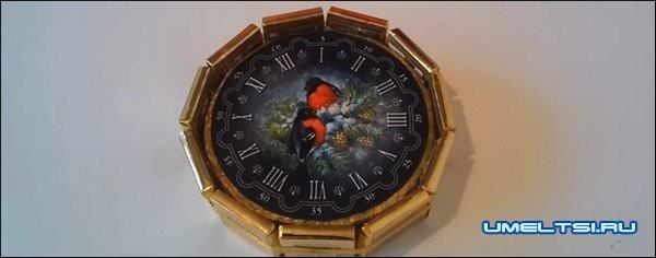 Новогодние часы своими руками-мастер класс