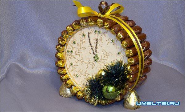 Новогодние часы своими руками
