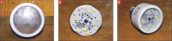 Светодиодная лампа из экономки