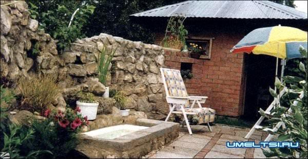 обустройство места отдыха на даче