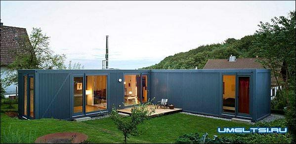 Дешёвый дом из контейнеров