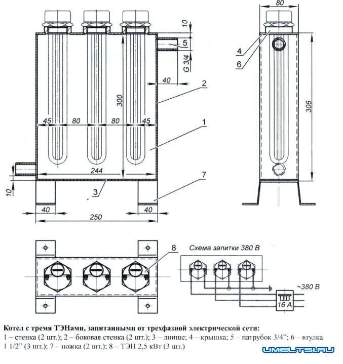 Водяной электрокотел