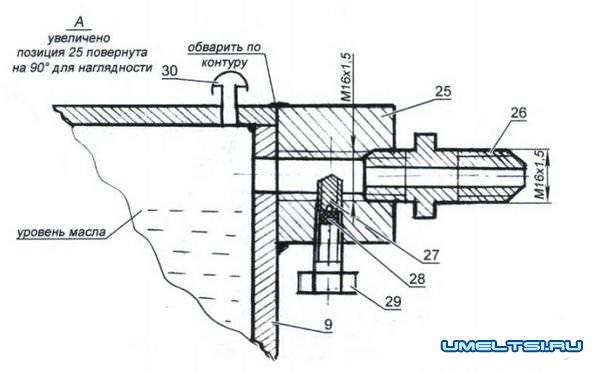 компрессор из насоса ЗИЛ 130