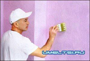 Штукатурим и красим стены