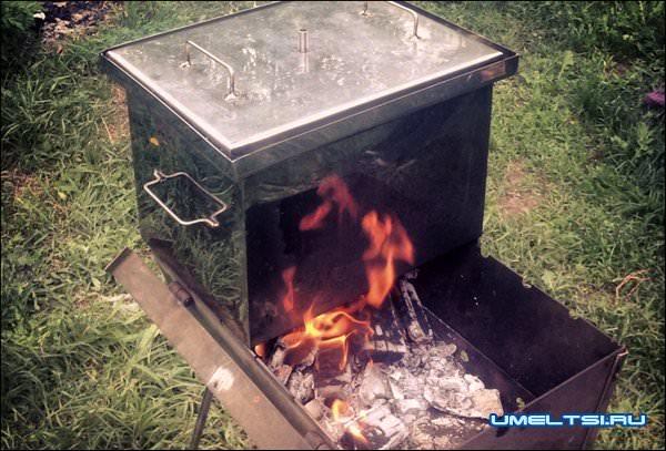 горячеее копчения на мангале