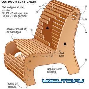 изготовления садового кресла