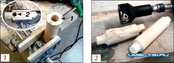 оригинальный светильник из дерева