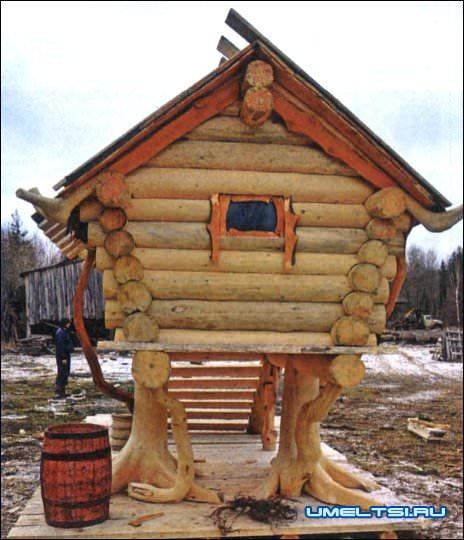Сделать декоративный домик для сада своими руками