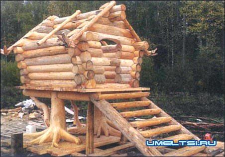Сделать декоративный домик для сада своими руками фото 979