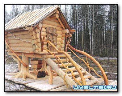 Декоративный домик для сада своими руками